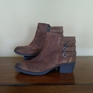 B.O.C Suede Distressed Ankle Boots